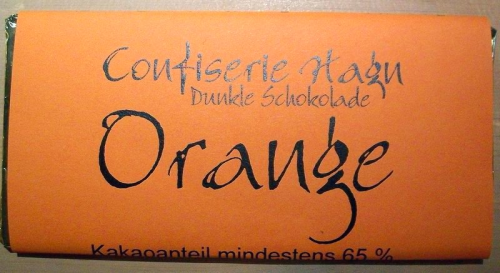 Schokloladen Tafel Orange